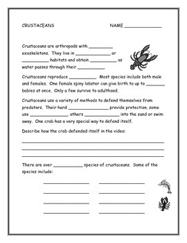 Crustaceans Note Taking