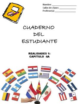 Cuaderno Del Estudiante - Realidades 1, Chapter 4A