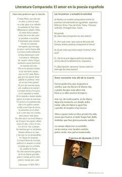 Cuando el amor vence a la muerte en la lírica española: li