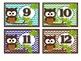Cubby Labels 1-28 Brown Owl Chevron (Blue, Green, Aqua, Brown)