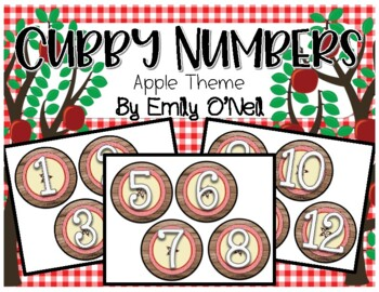Cubby Numbers (Apple Theme)