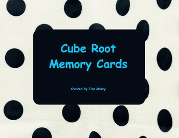 Cube Root Memory Cards 1 - 10