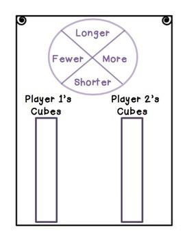 Cube Wars Math Game Longer, Shorter, More, Fewer VOCAB