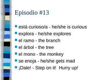 Cuéntame Episodio #13 Vocabulary