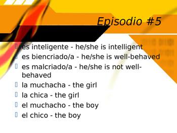 Cuéntame Episodio #5 Vocabulary