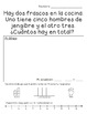 Ejercicios Matemáticos-Spanish Gingerbread Themed Math Sto