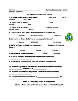 Cuidar el Medio Ambiente: Guided Listening activity and sp