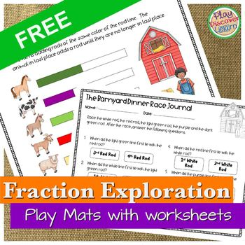 PDL's Barnyard Equivalent Fraction Race Game for Cuisenaire® Rods