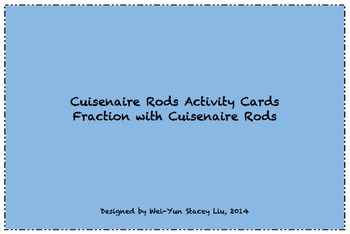 Cuisenaire Rods Activity Task Cards_Fraction
