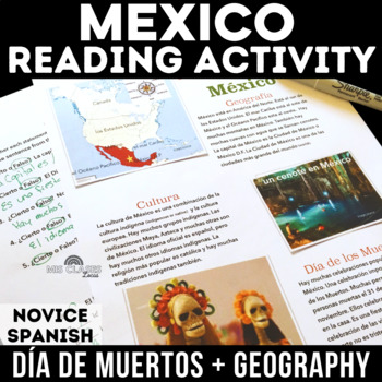 Cultural Reading: Mexico - including Geography & Day of the Dead