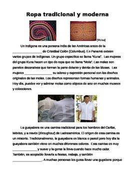 Cultural Reading: Ropa tradicional y moderna