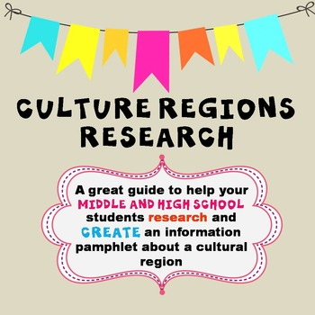Cultural Regions Research Assignment
