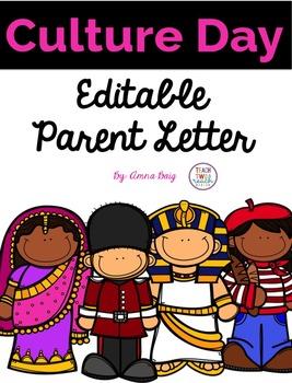 Culture Day Editable Parent Letter