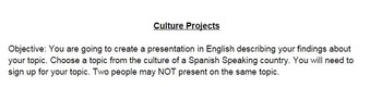Culture Projects