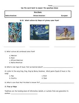 Culture Quiz (week 1)