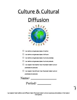 Culture and Cultural Diffusion Packet
