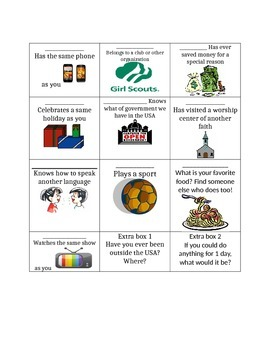 Culture introduction- beginning of the year activity- gett