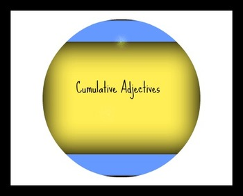 Cumulative Adjective Order