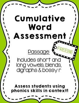 Cumulative word assessment
