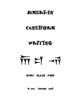 Cuneiform Writing Activities