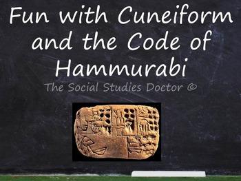 Cuneiform and the Code of Hammurabi (Double Worksheet!)