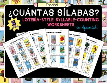 ¿Cuántas Sílabas? (How Many Syllables?) Spanish Worksheets