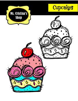 Cup Cakes Clip Arts