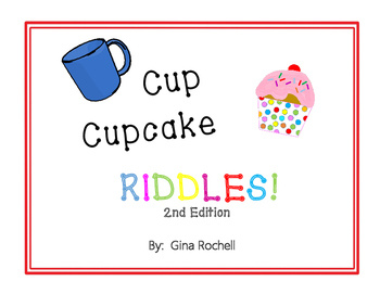 Cup/Cupcake Riddles -  2nd in a Series