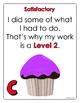 Cupcake Achievement Level Posters