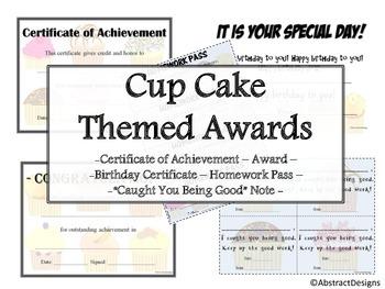 Cupcake Awards Set