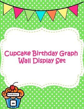 Cupcake Birthday Graph Wall Display