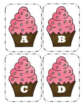 Cupcake Capital Alphabet Flash Cards