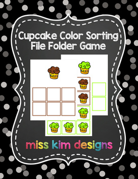 Cupcake Color Sorting Folder Game for students with Autism