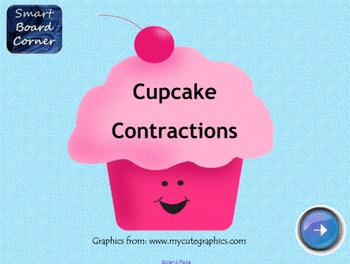 Cupcake Contractions SMART Board Lesson