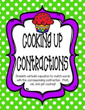 Cupcake Contractions (will, am, not)