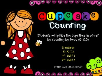 Cupcake Counting Center (skip counting by 2's)