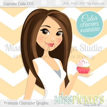 Cupcake Cutie 001- Character Graphic, Home Ec Teacher Avatar