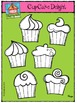 Cupcake Delight (P4 Clips Trioriginals Digital Clip Art)