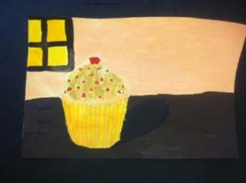 Cupcake Drawing and Painting Lesson Plan, Learning from Wa