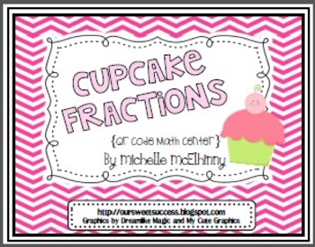 Cupcake Fractions {QR Code Math Center}