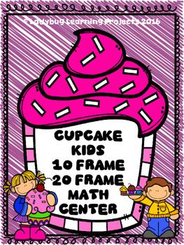 Cupcake Kids Ten Frame Math Center