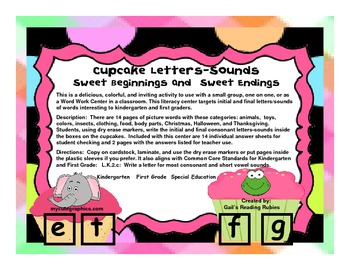Cupcake Letters-Sounds                Sweet Beginnings and