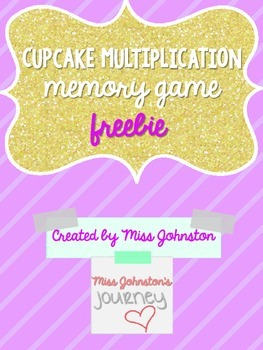 Cupcake Multiplication Memory Game {Freebie}