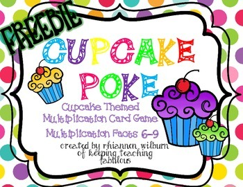 Cupcake Multiplication Poke FREEBIE
