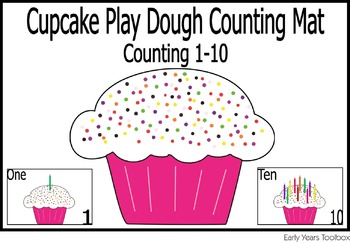 Cupcake Play dough Mats - Counting Activity