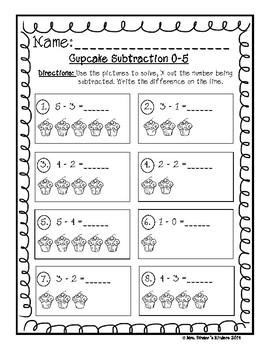 Cupcake Subtraction 0-5