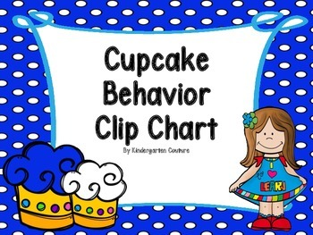 Cupcake Theme Behavior Clip Chart