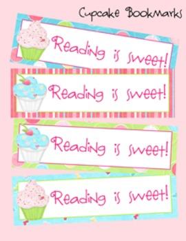 Cupcake Theme Bookmarks