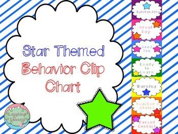 Star Themed Behavior Clip Chart