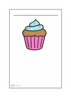 Cupcake Themed Writing Frames (Editable)